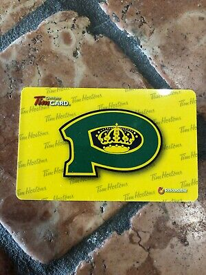 2016 Powell River Kings TIM HORTONS HOCKEY GIFT CARD (1 CARD)