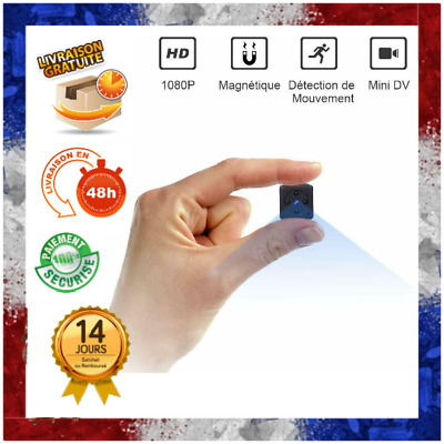 Mini Camera EspionFull HD 1080P Portable sans Fil vision nocturne detection mouv