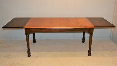 Large 8ft Draw leaf Dining table Oak Veneer Mahogany Frame Delivery Available