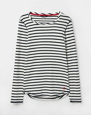 Joules 207373 Ribbed Top in CREAM STRIPE