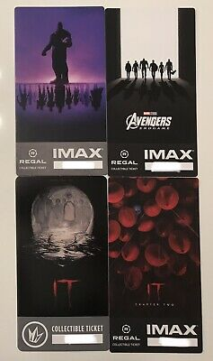 Regal Collectible Imax Ticket Avengers Endgame,IT Chapter 1 AND Chapter 2