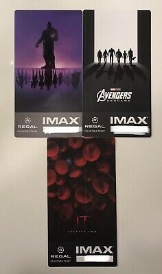Regal Collectible Imax Tickets Avengers Endgame,IT Chapter 2 Lot