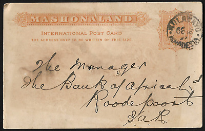 South Africa 1897 BSAC Arms JHB CNS Mashonaland International Post Card