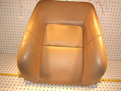 Mercedes Late C140 CL500 Right Pass seat Back PARCHMENT Leather OE 1 Cover / Pad