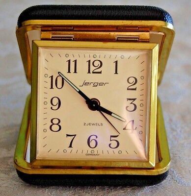 Jerger Wind Up Travel Alarm Clock made in Germany