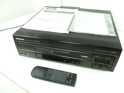 Pioneer CLD-D406 LaserDisc CD CDV LD Player With Remote And Laser Disc Catalog