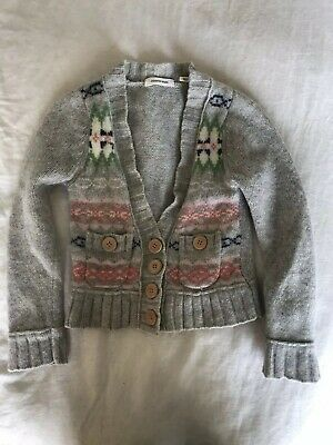 Country Road Girl's Jumper/Cardigan size 4 100% wool