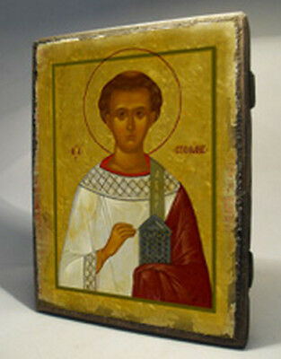 Handmade copy ancient ORTHODOX CHURCH Prayer ICON St Martyr Stephen 178S