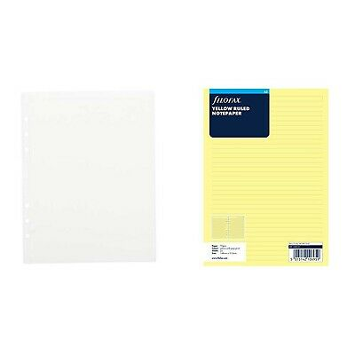 A5 Yellow ruled notepaper Filofax 343010
