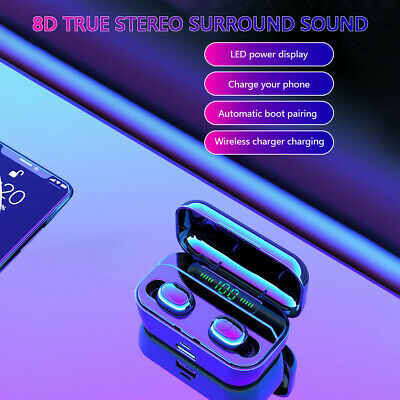 Wireless Earbud TWS Mini True BT 5.0 Stereo Earphone Bass In-Ear Headset