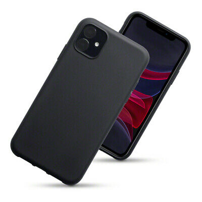 TPU Gel Case / Cover for iPhone 11 - Solid Black Matte Finish