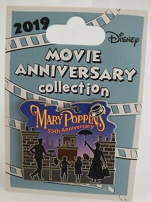 Disney Cast Excl Movie Anniversary Mary Poppins 55Th Anniv Le 1000 Pin-Free Shpg