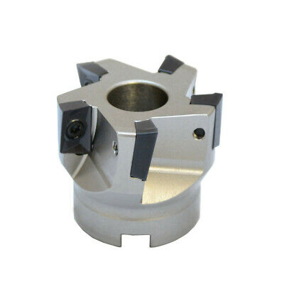 """SHARS 3/"""" 90° SQUARE INDEXABLE FACE MILL CUTTER TPG INSERT NEW $306.21 OFF"""