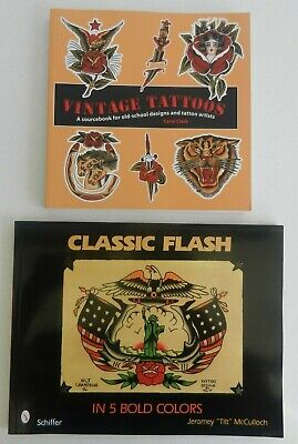 vintage tattoos & classic flash in 5 bold colors tattoo books NOT MACHINE