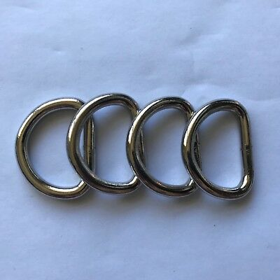 "25mm or 1"" heavy duty d/dee rings X4"