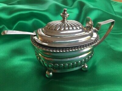George III  Sterling Silver Mustard Pot .1814 Emes & Barnard.. London.
