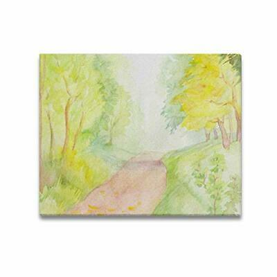 INTERESTPRINT Canvas Print Paintings 20 x 16 Inch Track Among The Autumn Forest