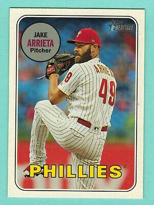2018 Topps Heritage High #721 Jake Arrieta Action Photo Variation SP Card