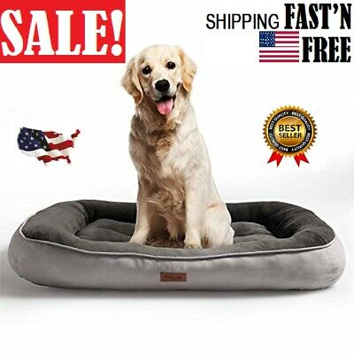 Petsure  Plush Dog Bed (32/36/43 inches) for Small, Medium, Large Pets - Machine