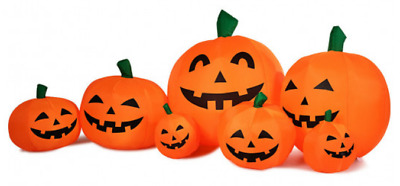 Halloween Inflatable Pumpkin Patch Decor Airblown Decoration Lighted Animated