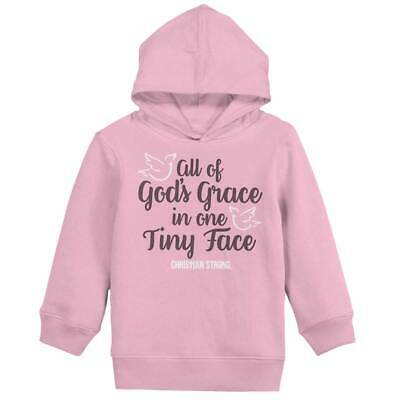 Gods Grace Tiny Face Christian Strong Cross Girls Toddler Pullover Hoodie