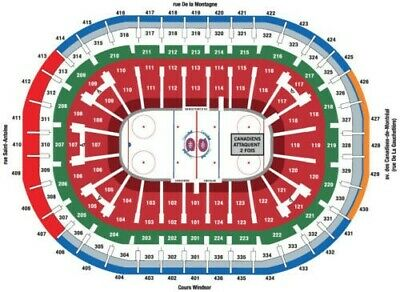 MONTREAL CANADIENS 312 ROW A Tickets Billets Vancouver Canucks 25 février 2020