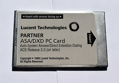 Avaya Lucent Partner ASA/DXD PC Card 12C2 R2.0 108358722 98DR11