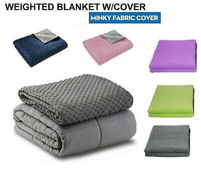 Weighted Blanket Adult Sensory Anxiety/ Mink Duvet 15 lbs 20 lb 25 lb Gravity