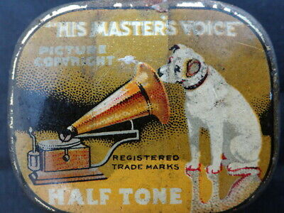 His Master Voice Needle Tin Full, Has Part Of Its Original Paper Label Band.