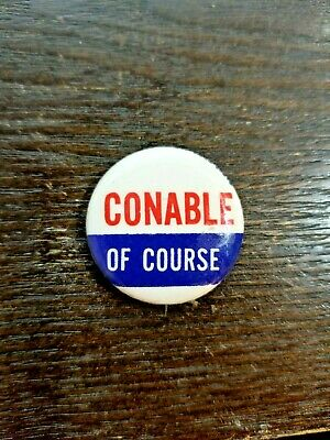 "RARE Vintage - Barber ""Benjamin"" Conable of Course Pin back"