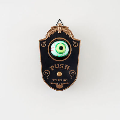 "HALLOWEEN EYEBALL DOORBELL LED Battery Operated 7"" Spooky NT0613 NEW"