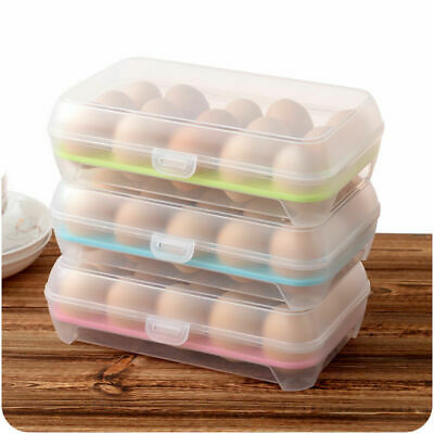 15Grids Portable Egg Storage Box Holder Container Camping Carrier camping clear*