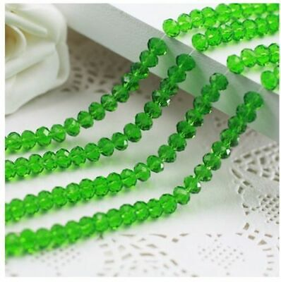 Wholesale 3 * 4mm 145pc faceted green AB crystal loose beads DIY jewelry