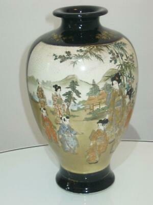 Stunning Large Signed Antique Japanese Meiji Period Satsuma Vase
