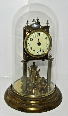 Very Nice German Torsion, 400 Day, Anniversary Clock With Dome
