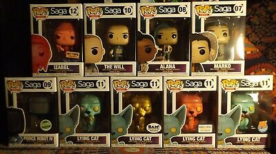 Funko POP! Games Lot Of 9 SAGA 5 Exclusive PRINCE ROBOT IV, 3 LYING CAT & IZABEL