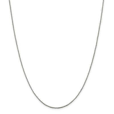 """925 Sterling Silver 1.2mm Twisted Box Chain Necklace 16"""" - 30"""""""