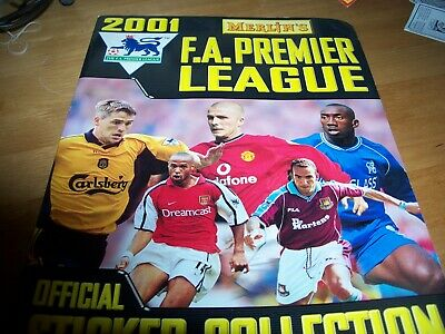 EMPTY Merlin`s FA Premier League Football Sticker Album 2001