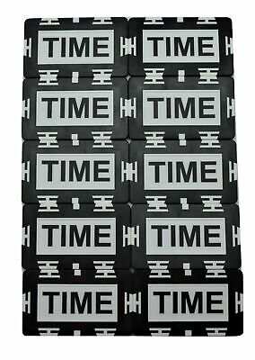 (10) TIME Plaque Tournament Time Extension Casino Poker Home Use
