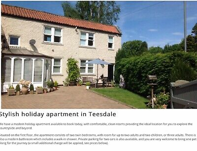 Holiday Cottage Self Catering - Beautiful Teesdale Dog Friendly 20th-23rd Sept.