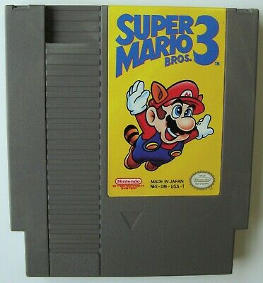 Super Mario Bros 3 Nes Nintendo Video Game Tested And Working