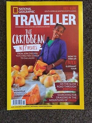 NATIONAL GEOGRAPHIC TRAVELLER MAGAZINE Nov 2018 - Caribbean - New and Unread