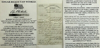 CIVIL WAR ANTIETAM CAPT 103rd NY INFANTRY COLONEL ENGINEER NYSM LETTER SIGNED VF