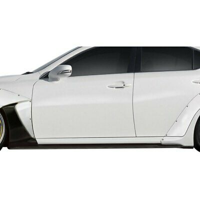 For Lexus IS250 06-13 Couture J-Spec Style Side Skirt Rocker Panels Unpainted
