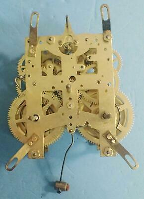 Antique New Haven 8-Day Time & Strike Clock Movement Front Mounting Style