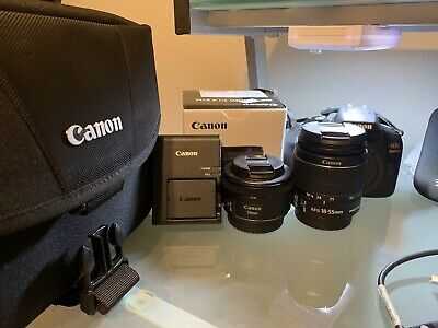 Canon EOS Rebel T6 18.0MP Digital SLR Camera WIF w/ 18-55mm and 50mm Lens BUNDLE