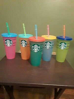 SINGLE reusable Starbucks inspired color changing cup small defect on decal.