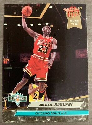1992-93 Fleer Ultra Michael Jordan NBA Jam Session Dunk Rank 16 (#216) NM