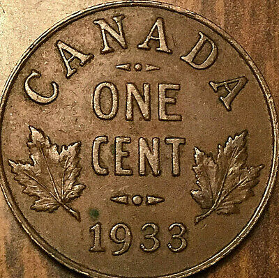 1933 CANADA SMALL CENT PENNY - Excellent example!