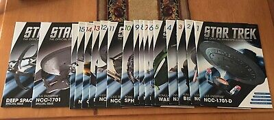 Eaglemoss Star Trek Starship Companian Magazines ONLY 1-16 Plus 2 Extras